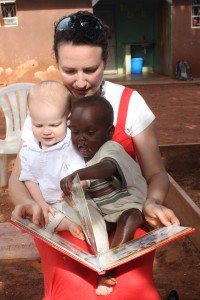 Story time with Judson and Abide resident, Amram. Only one of them had pants on, so that was exciting.